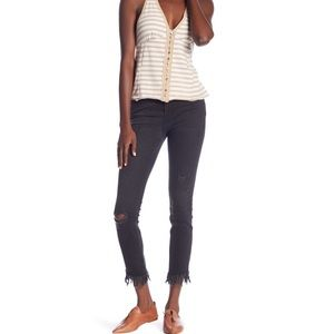 Free People Greatest Heights Frayed Skinny Jeans